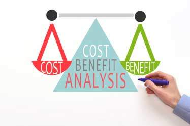 cost value balance scale