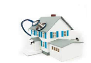 Home Care graphic house stethoscope