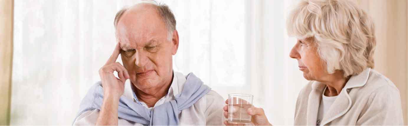 respite care man with a headache